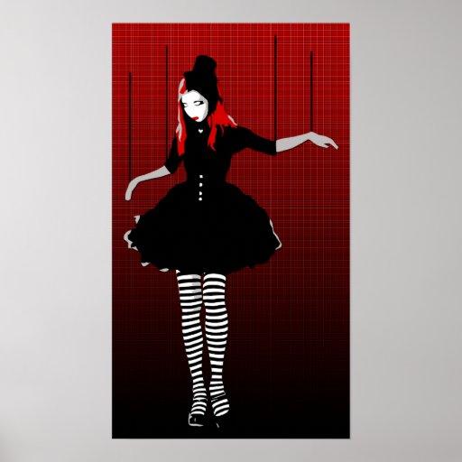 marioneta del cabaret póster