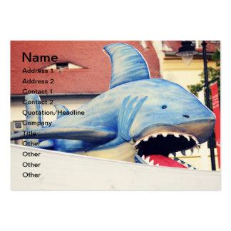 Marioneta del tiburón tarjetas de negocios