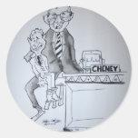 Marioneta política etiqueta redonda