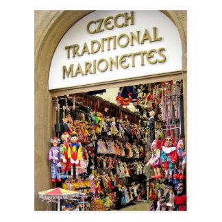 Marionetas checas postal