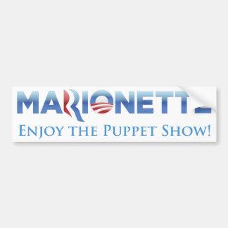 Marionette 2012 Parody Bumper Sticker Car Bumper Sticker