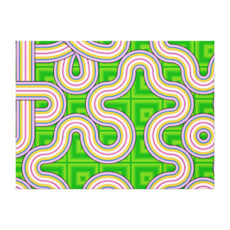Mario's Girlfriend Fractal Stretched Canvas Print
