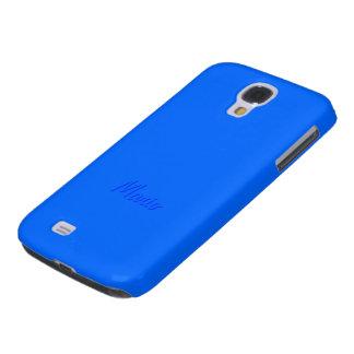 Mario's Samsung Galaxy s4 blue cover