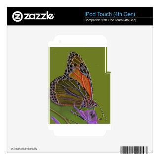 Mariposa 10 calcomanía para iPod touch 4G