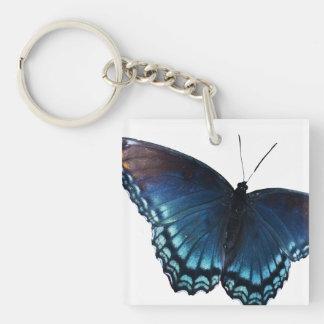 mariposa 16 llavero cuadrado acrílico a una cara