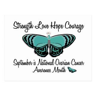 Mariposa 1,2 del mes de la conciencia del cáncer postal