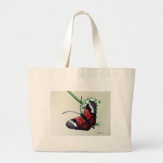 Mariposa 1, pintura de la acuarela, arte bolsa lienzo