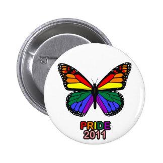 Mariposa 2011 del orgullo pin