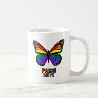 Mariposa 2011 del orgullo taza