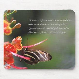 Mariposa 2 (cebra Longwing) de la estafa de Juan 8 Alfombrilla De Ratón