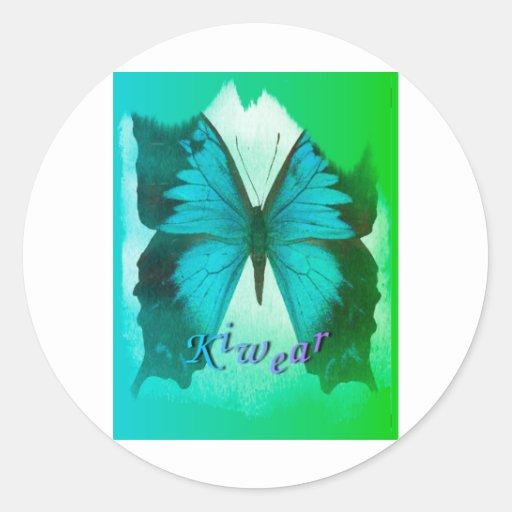 Mariposa 2 de Kiwear Etiqueta Redonda