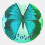 Mariposa 2 de Kiwear Pegatina Redonda
