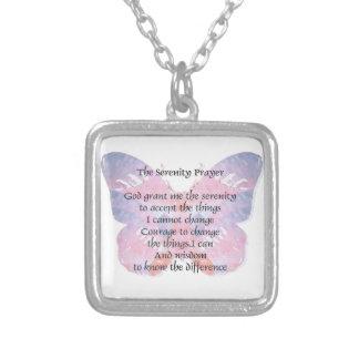 Mariposa 2 del rezo de la serenidad pendientes personalizados