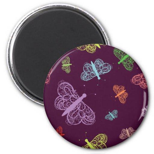 Mariposa 2 - Plantilla del personalizar Imán Redondo 5 Cm