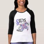 Mariposa 2 SIDS del vitral Camisetas