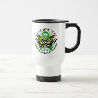 Mariposa 2 tribales de Gastroparesis Taza De Café