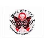 Mariposa 2 tribales de la enfermedad cardíaca postal