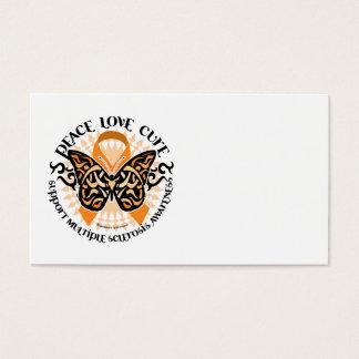 Mariposa 2 tribales de la esclerosis múltiple tarjetas de visita