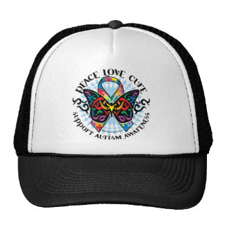 Mariposa 2 tribales del autismo gorro