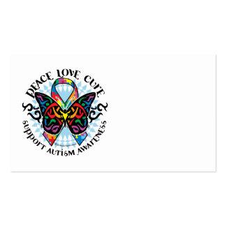 Mariposa 2 tribales del autismo tarjetas de visita