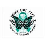 Mariposa 2 tribales del cáncer ovárico postal