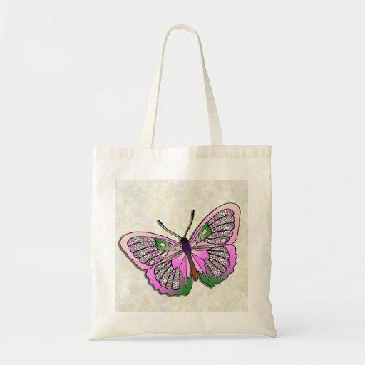 Mariposa - 33 - rosa y verde bolsas