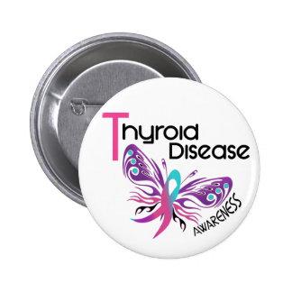 MARIPOSA 3,1 de la enfermedad de tiroides Pin Redondo De 2 Pulgadas
