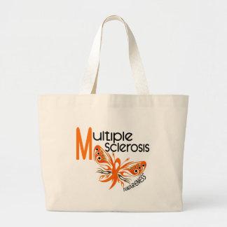 MARIPOSA 3,1 de la esclerosis múltiple del ms Bolsa Tela Grande