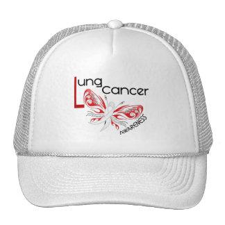 MARIPOSA 3,1 del cáncer de pulmón Gorros Bordados