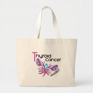 MARIPOSA 3,1 del cáncer de tiroides Bolsa Tela Grande
