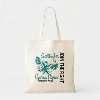 Mariposa 3,1 del mes de la conciencia del cáncer o bolsa tela barata