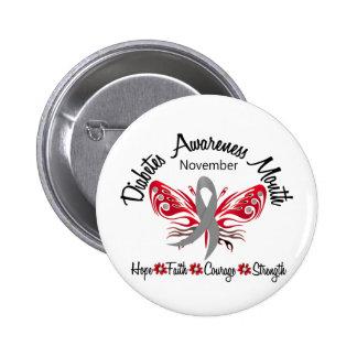 Mariposa 3,2 del mes de la conciencia de la diabet pins