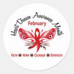 Mariposa 3,2 del mes de la conciencia de la etiquetas redondas