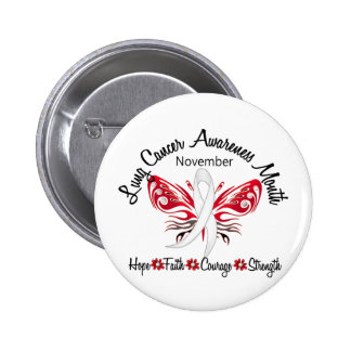 Mariposa 3,2 del mes de la conciencia del cáncer d pin redondo de 2 pulgadas