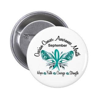 Mariposa 3,2 del mes de la conciencia del cáncer o pin