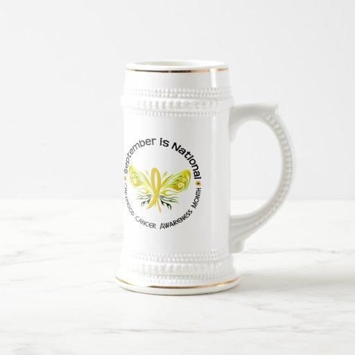 Mariposa 3,3 del mes de la conciencia del cáncer d tazas de café