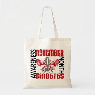 Mariposa 3,4 del mes de la conciencia de la diabet bolsas