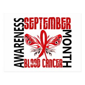 Mariposa 3,4 del mes de la conciencia del cáncer tarjetas postales