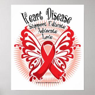 Mariposa 3 de la enfermedad cardíaca impresiones