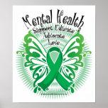 Mariposa 3 de la salud mental póster