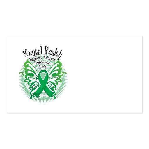 Mariposa 3 de la salud mental tarjetas de visita