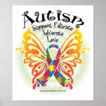 Mariposa 3 del autismo impresiones