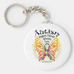 Mariposa 3 del autismo llavero personalizado