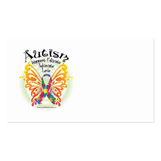 Mariposa 3 del autismo tarjetas de visita