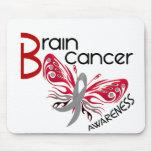 MARIPOSA 3 del cáncer de cerebro Alfombrilla De Raton