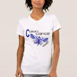 MARIPOSA 3 del cáncer de colon Camisetas