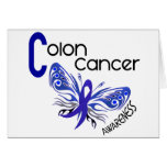 MARIPOSA 3 del cáncer de colon Tarjeta