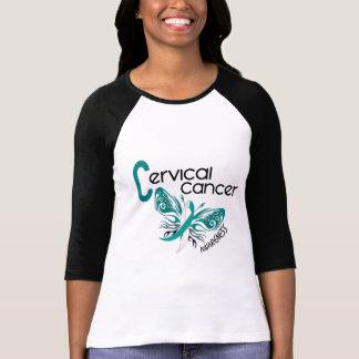 MARIPOSA 3 del cáncer de cuello del útero Camisetas