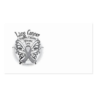 Mariposa 3 del cáncer de pulmón tarjetas de visita