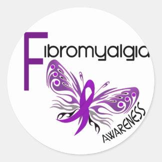 MARIPOSA 3 del Fibromyalgia Pegatina Redonda